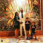 Aubameyang montre sa belle famille