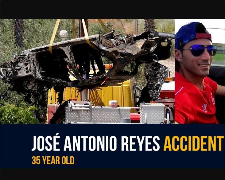 photos de l'accident Jose Antonio Reyes