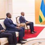 Rwanda Didier Drogba au palais de Paul Kagame