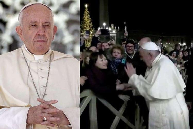 Le pape François indigné frappe la main d'une femme pour se libérer de son emprise (vidéo)