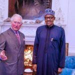 Le président Buhari rend visite au prince Charles
