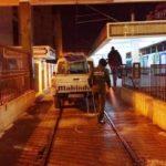 Tunisie Désinfection de la station de métro du Passage (photos)