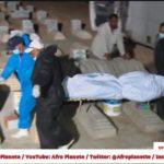 Tunisie - Enterrement de migrants subsaharien après le naufrage de leur embarcation à Kerkennah
