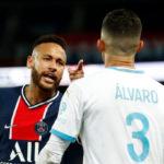 Neymar accuse Gonzalez de racisme après avoir reçu un carton rouge pour avoir giflé le défenseur marseillais alors que le PSG perd le deuxième match consécutif (photos)