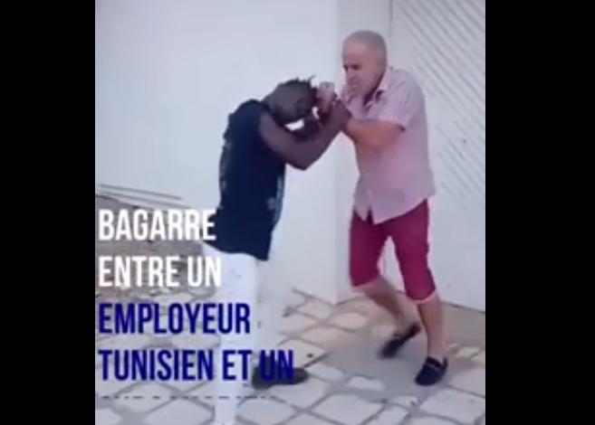 Tunisie - Un subsaharien se bagarre avec son employeur tunisien pour salaire impayé (vidéo)