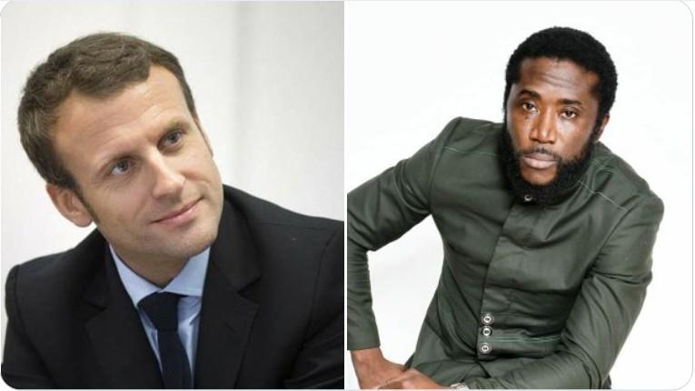 L'artiste Guinéen Elie Kamano s'est senti indigné des propos de Macron à l'endroit de son homologue guinéen.