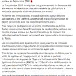 Benin : Arrestation d'individus ayant publié des messages pédophiles sur les réseaux sociaux