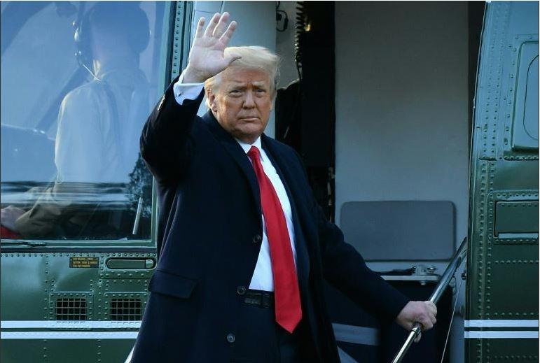 Donald Trump depuis la base militaire d'Andrew: «Je reviendrai d'une manière ou d'une autre»