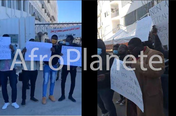 Tunisie - Deuxième jour de protestation pour les droits des étudiants subsahariens en Tunisie