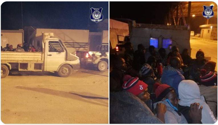 Libye - Un camion de 21 migrants clandestins subsahariens intercepté par la patrouille des FDS