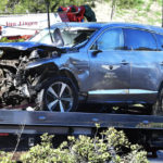 """Victime d'un accident de la route, le golfeur Tiger Woods opéré et """"conscient"""""""