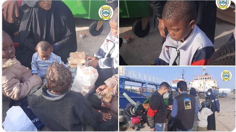 209 migrants subsahariens dont 25 femmes et 13 enfants sauvés par les garde-côtes libyens