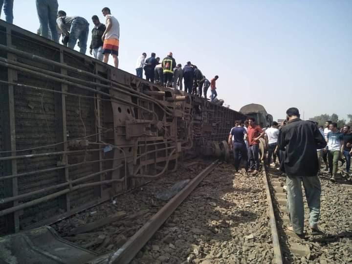 Egypte : Au moins 8 morts te 97 blessés dans le déraillement d'un train (Vidéos)