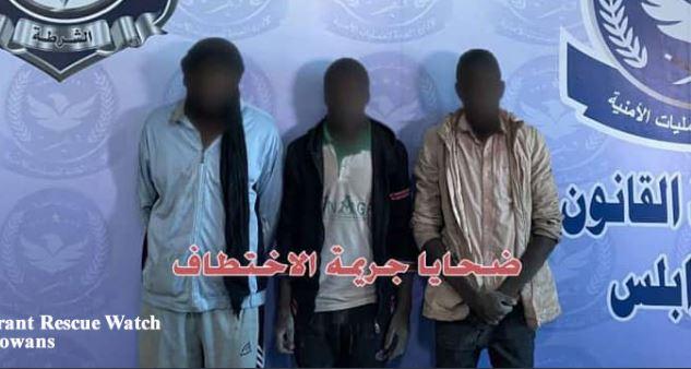 Libye: Arrestation d'un nigérian pour kidnapping et traite d'humains et libération de 3 otages nigérians