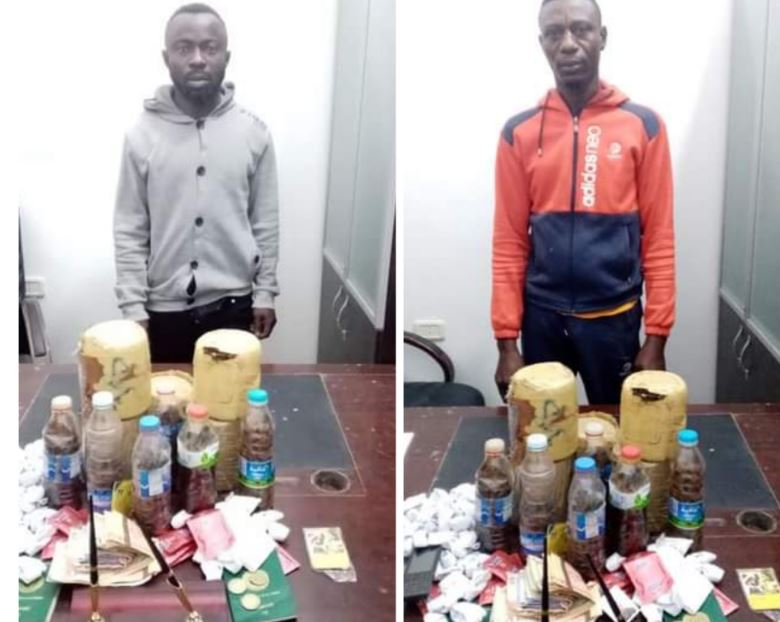 Libye: Deux nigérians arrêtés pour trafic de drogue, traite d'humains et de trafic sexuel (photos)