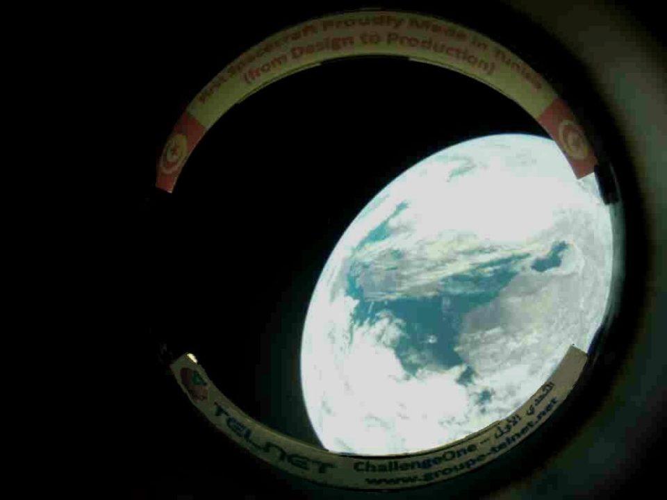 """Première image de la terre photographiée par le satellite tunisien """"Challenge One"""""""