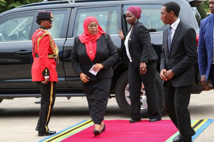 Tanzanie: Des femmes comme gardes rapprochées de la nouvelle présidente Samia Suluhu (photos)